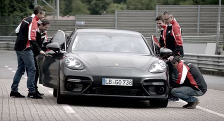 Breaking a record with the fastest luxury sedan on earth. The new Panamera Turbo.